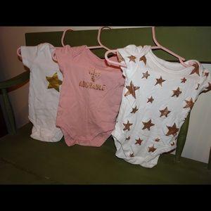 Short Sleeved Onesie Set of 3